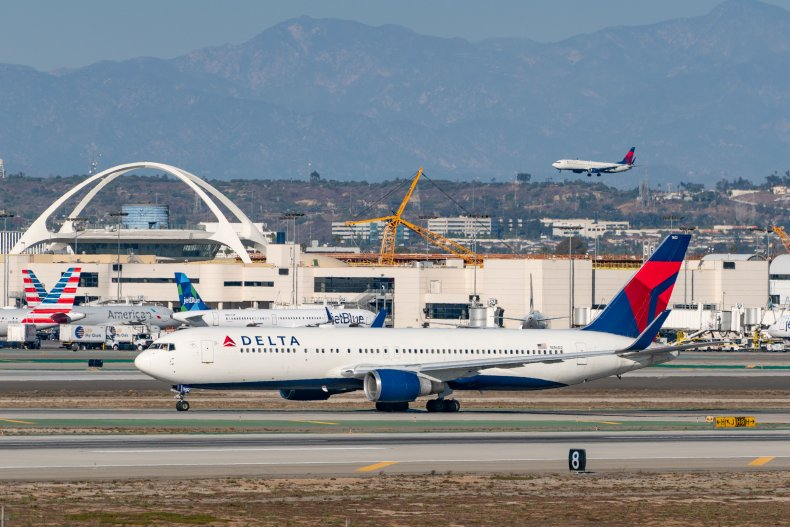 Delta Air Lines fight arrives at LAX