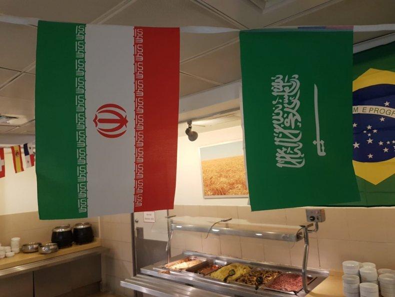iran, saudi, arabia, flags