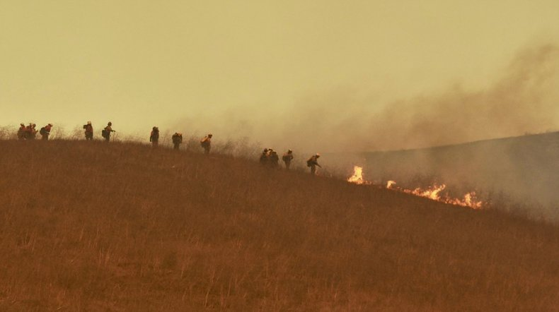 Alisal Fire Burns in Southern California