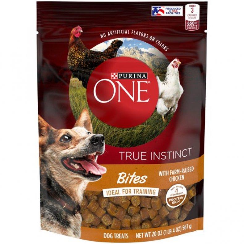 Purina's One dog training treats.
