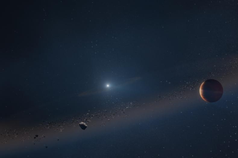 A Gas Giant Around a Dead Star