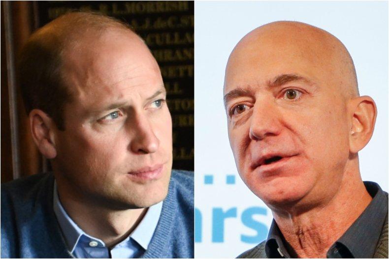 Prince William and Jeff Bezos