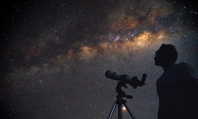 Using telescope to look at sky