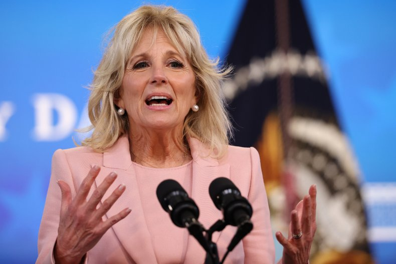 First Lady Jill Biden Delivers Remarks