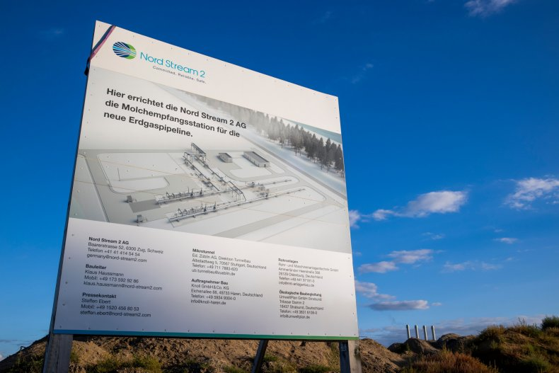 Nord Stream 2 facility pictured in Germany
