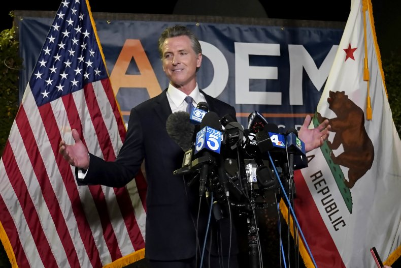 Newsom pushes California further to the left.