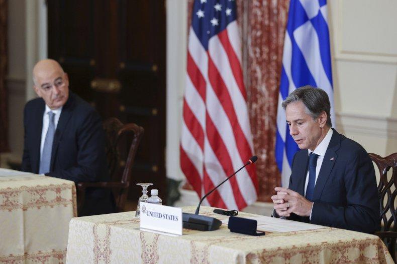 Antony Blinken Greece