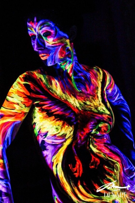 Cool Idea Ideas In New York Black Light Body Painting Classes In Brooklyn
