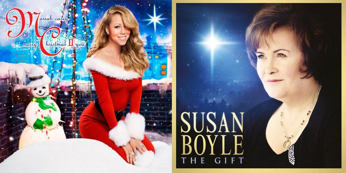 Christmas Albums.Diva Smackdown Mariah Carey Vs Susan Boyle Who Has The