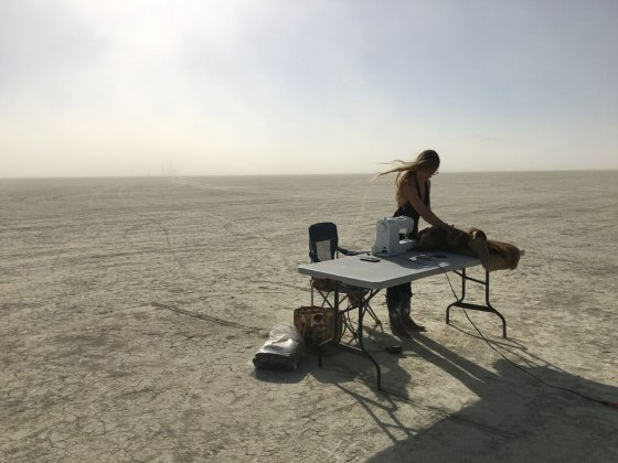Stephanie Sartori burning man