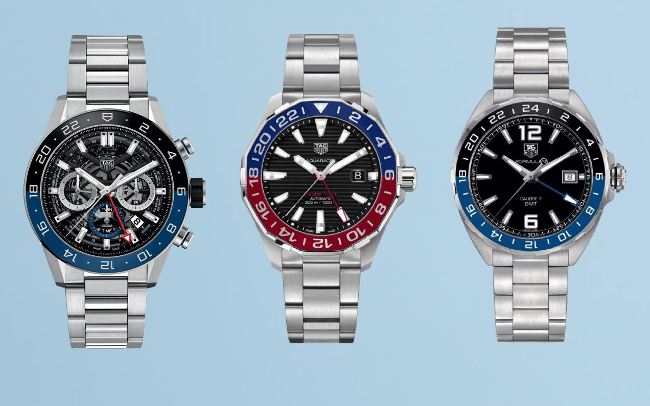 TAG heuer GMT watches