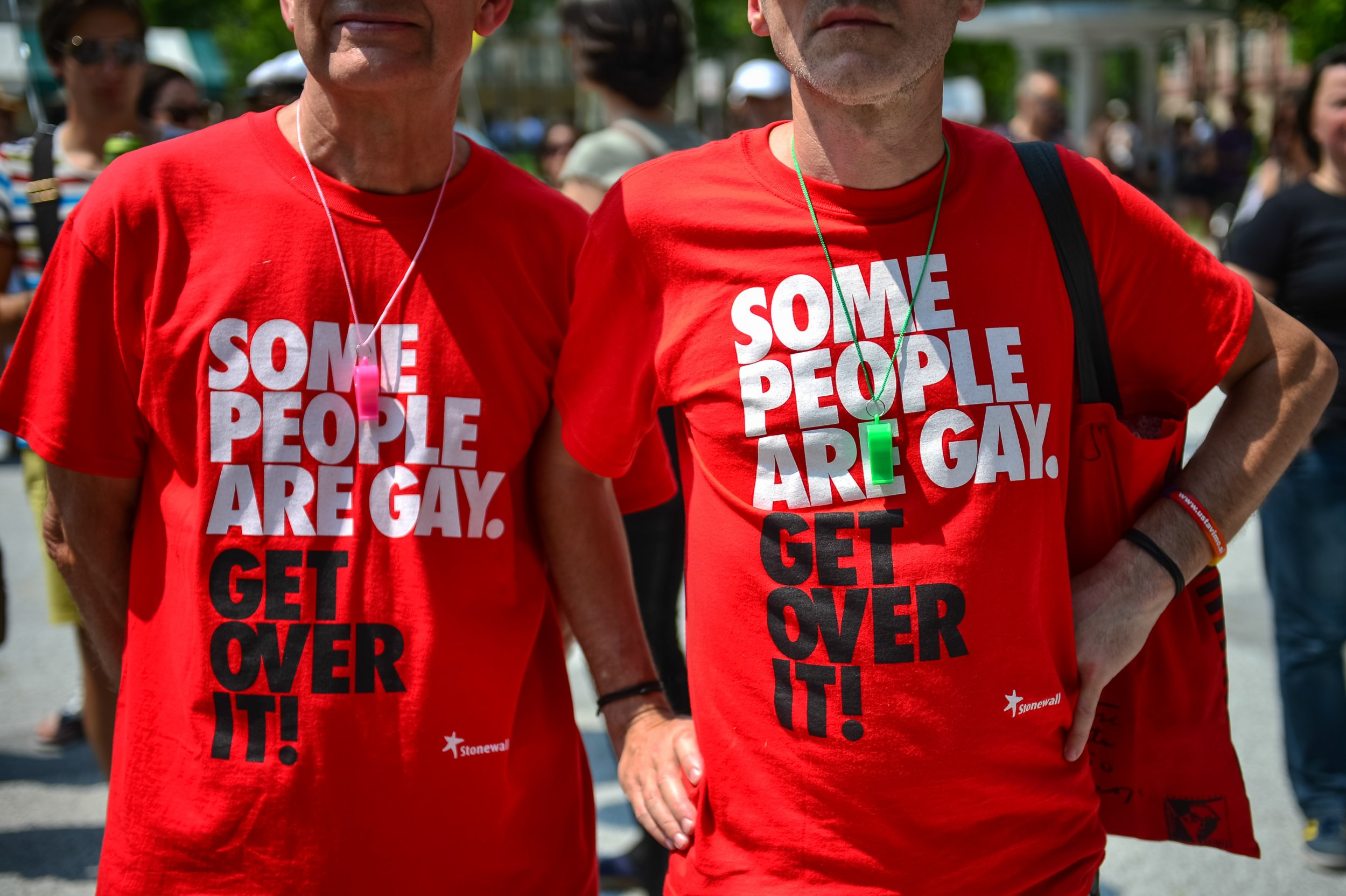 618d0103c1d2 An argument about what to wear in a family photo set off a new direction in  gay rights protests Jure Makovec/AFP/Getty
