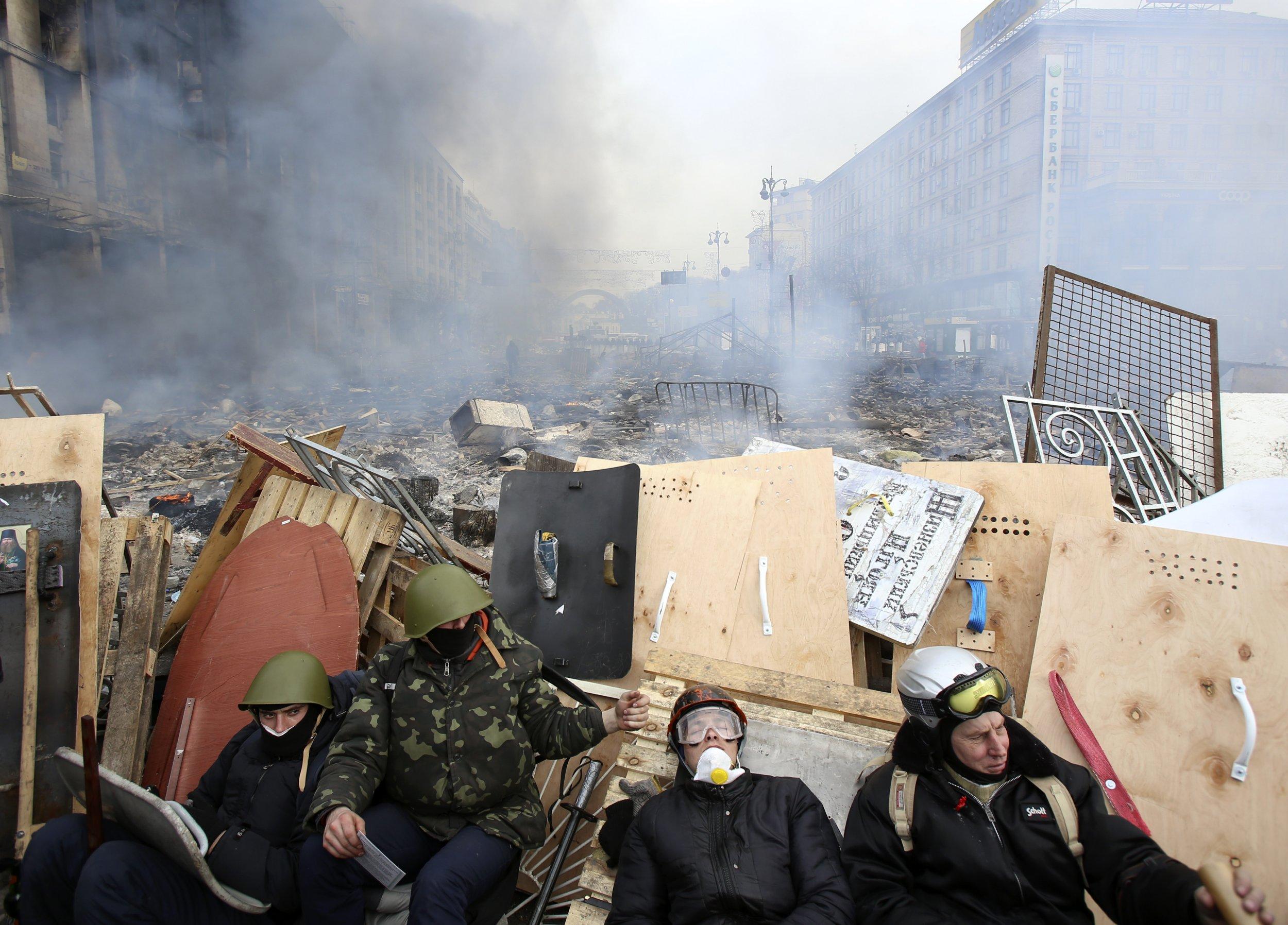 Ukraine barricade