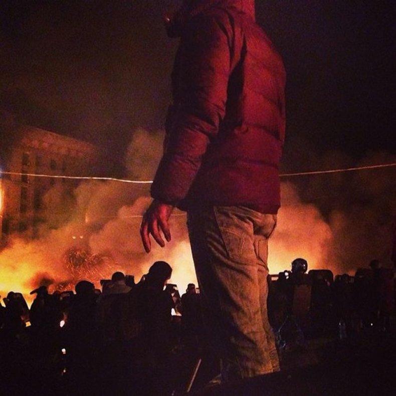 Brendan Hoffman Instagramming Ukraine