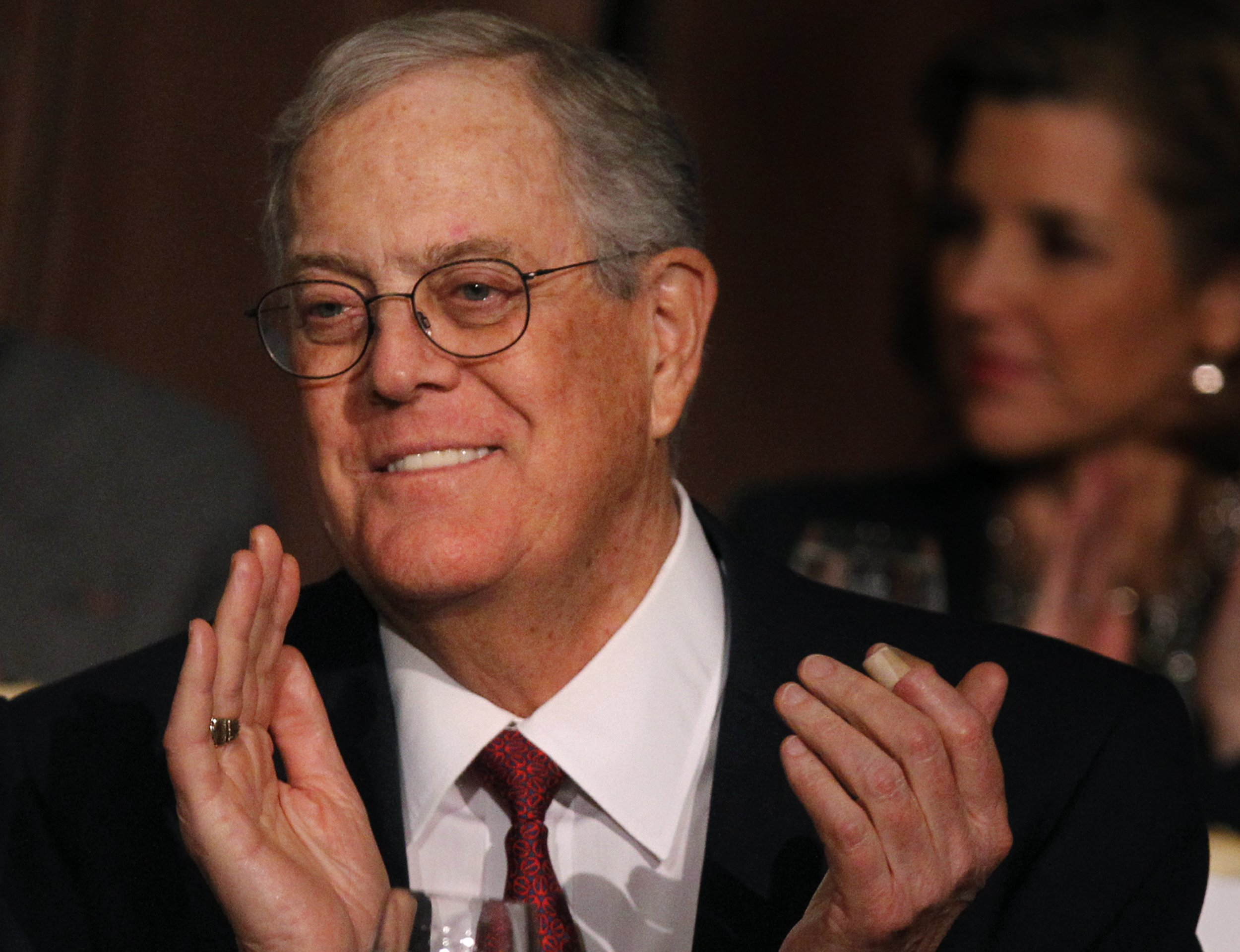 Will reid s koch bashing work for David charles koch
