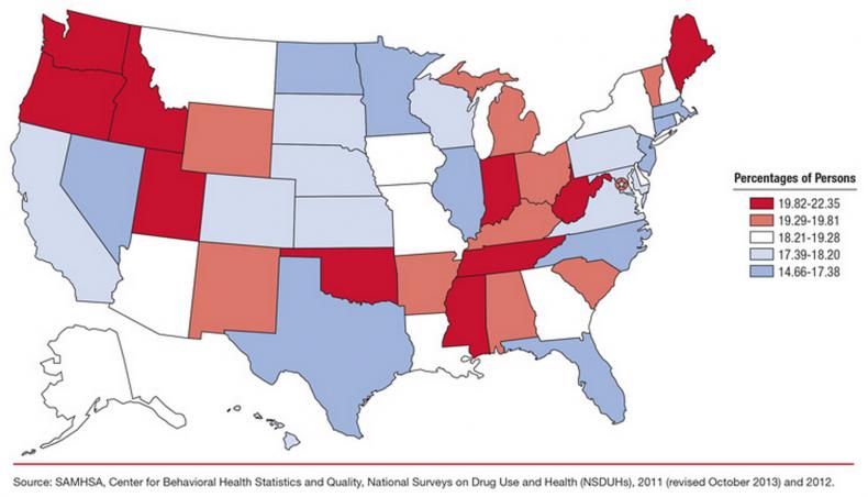 Map of mental illness