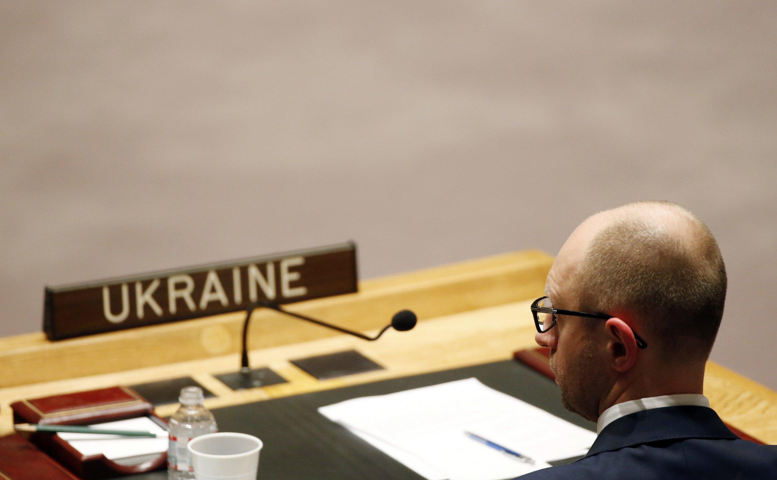 Ukraine Prime Minister Arseniy Yatsenyuk
