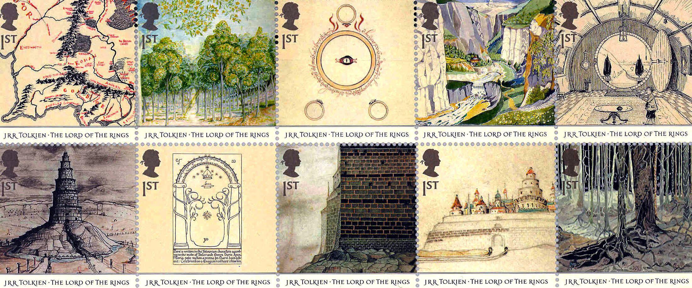 tolkein stamps
