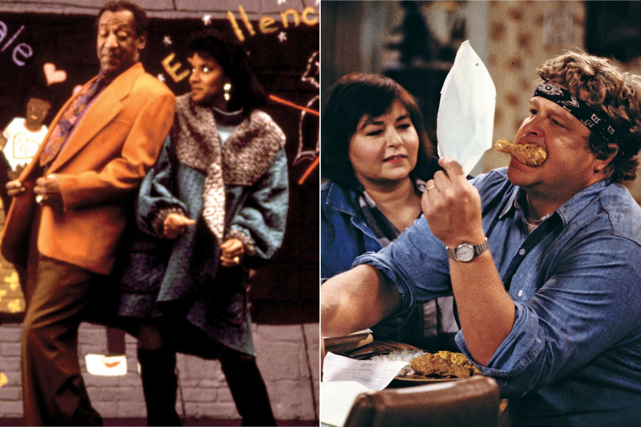an analysis of the similarities in the cosby show and roseanne The opening credits of season 4 change from season 3 in that the show now stars roseanne arnold instead of roseanne barr jerry and the grandsons forming a music group similar to the jonas narrowly beating out the cosby show syndication this section needs additional citations.