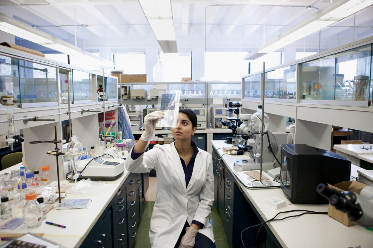 Stem Cell Researcher in Lab