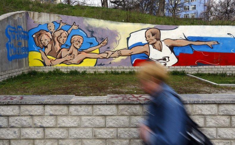 Ukraine putin mural