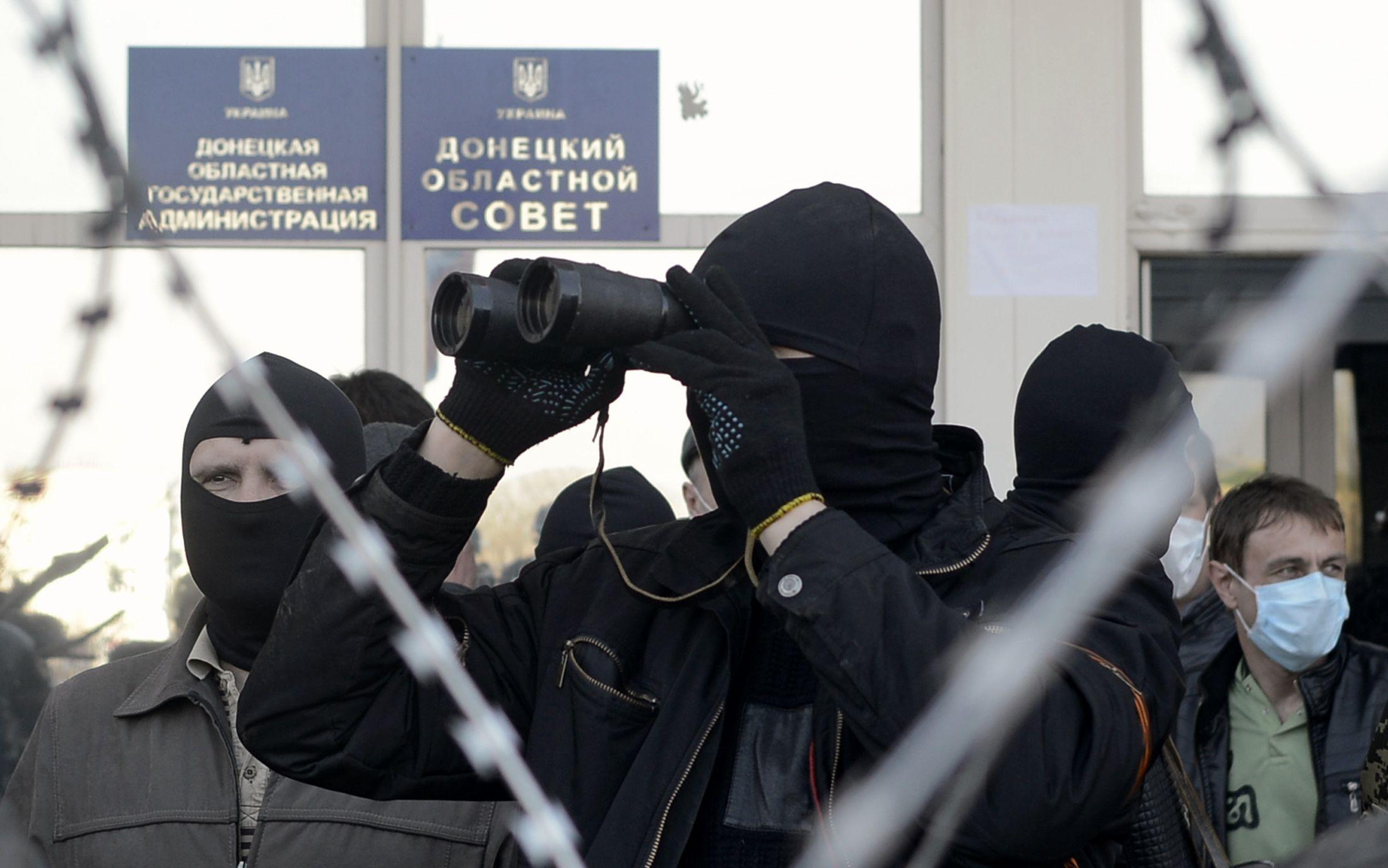Ukraine pro-russian protester