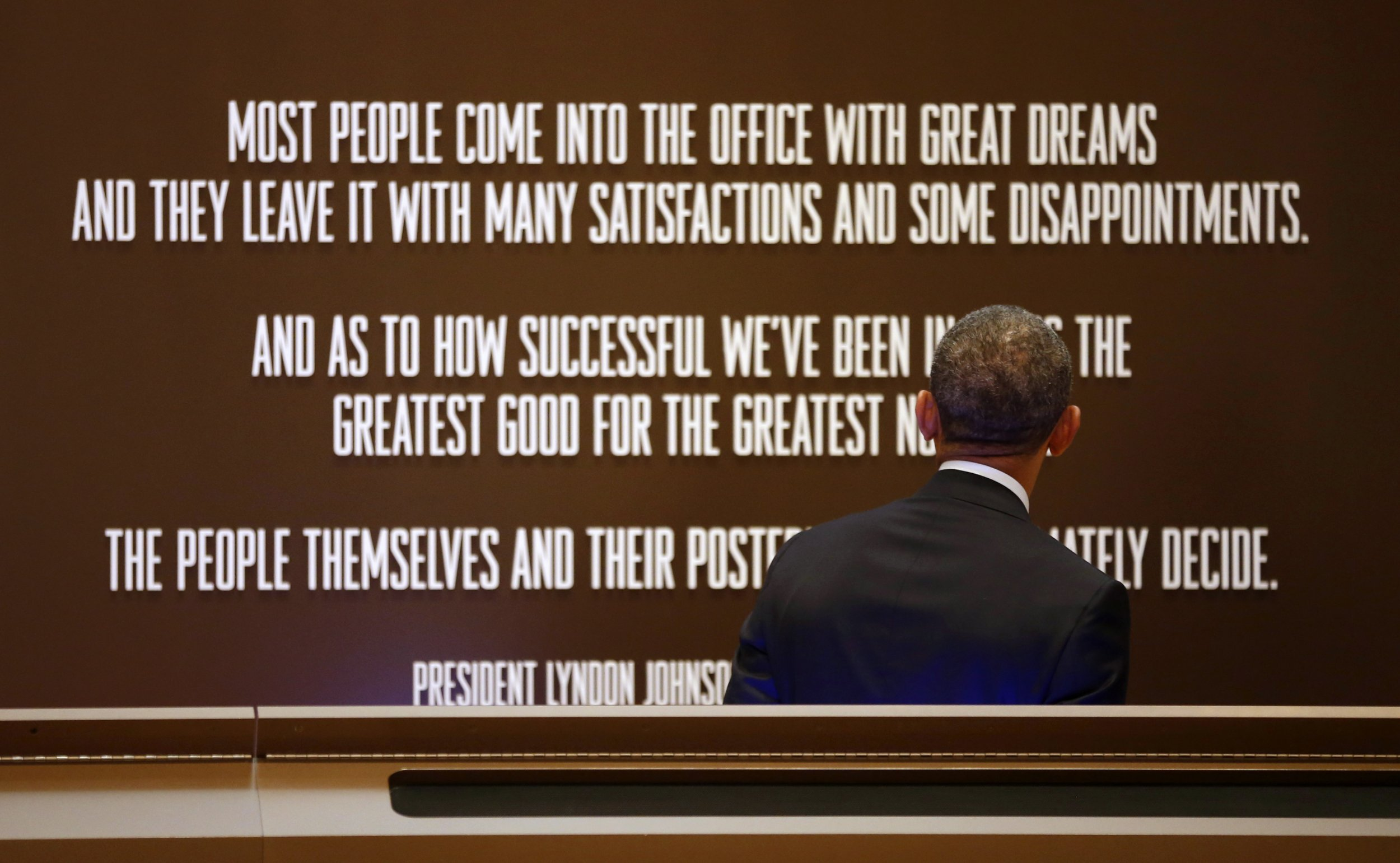 President obama LBJ