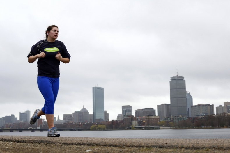boston woman running