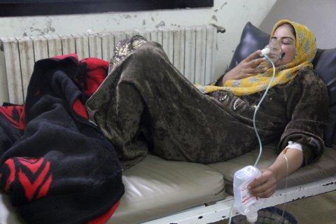 Syrian gas attack victim