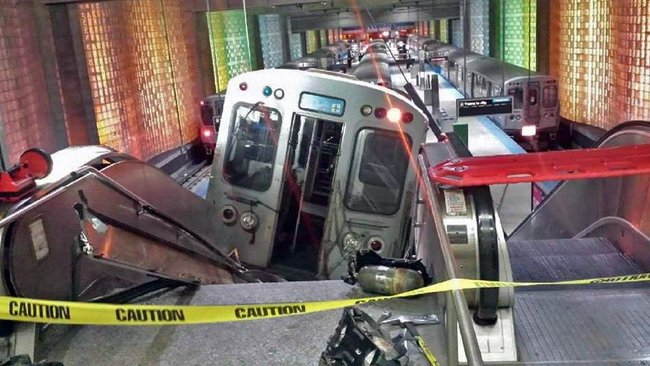 Chicago Train 'Went Up the Stairs and Escalator,' Injuring 30