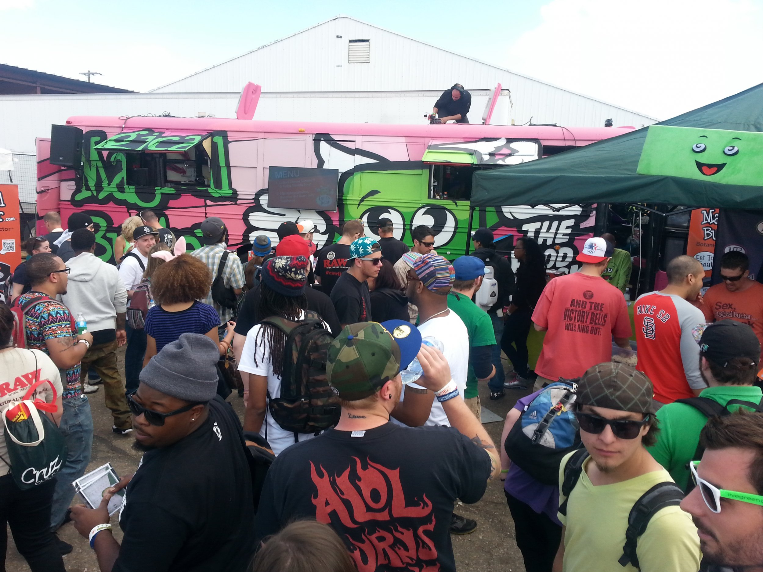 Food truck and crowd
