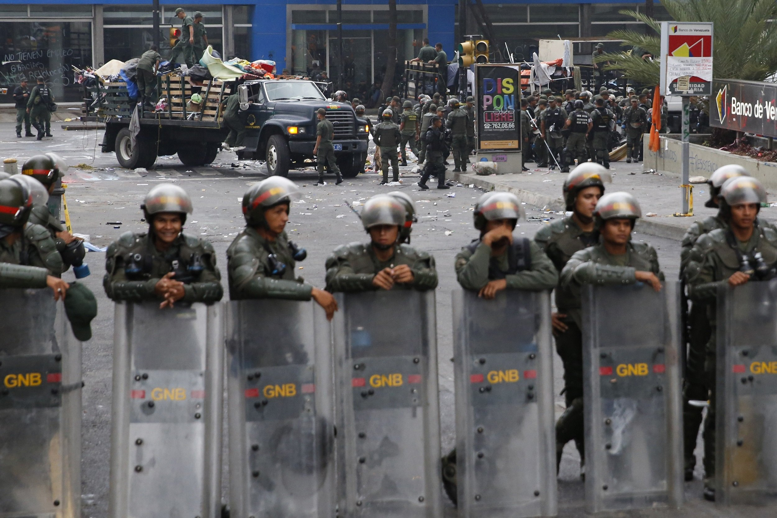 Venezuela's  protest camp