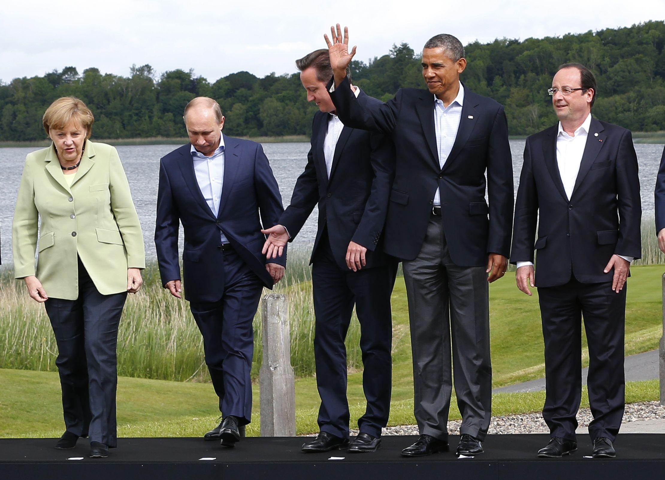 Obama Merkel Putin