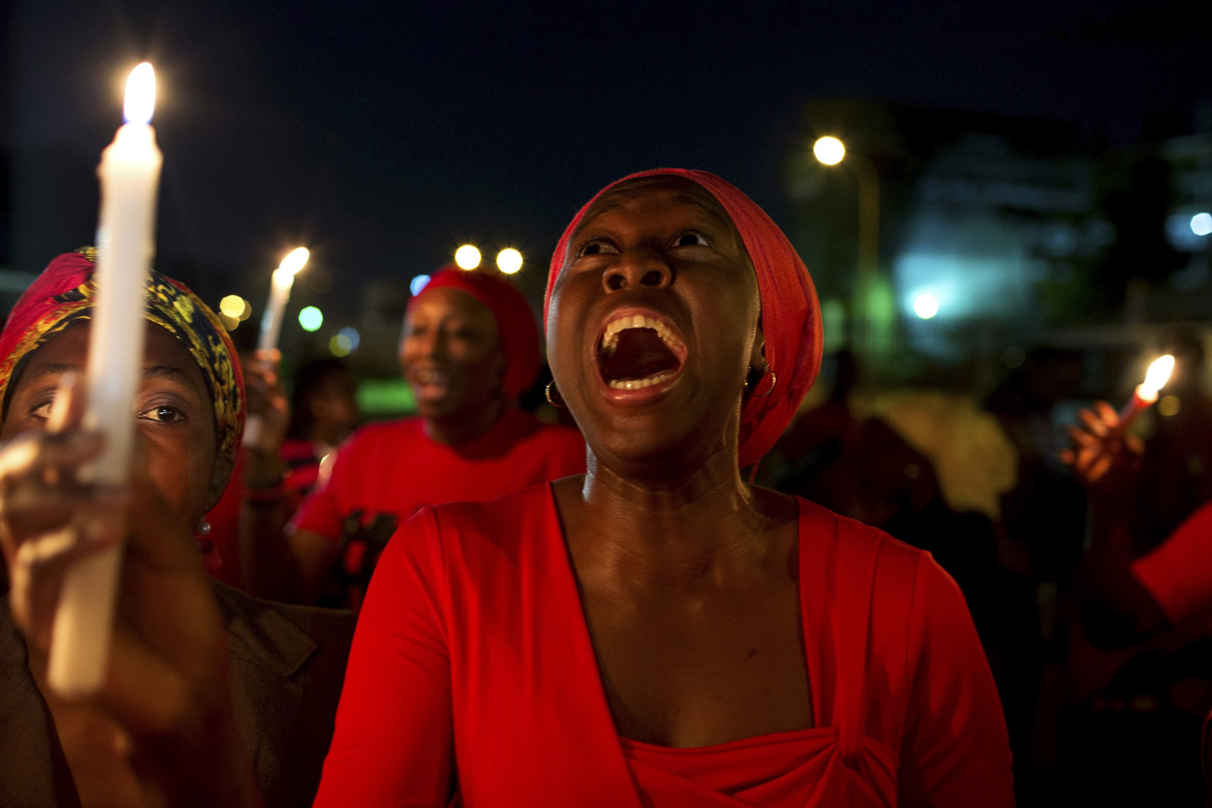 Nigeria kidnapped girls protest