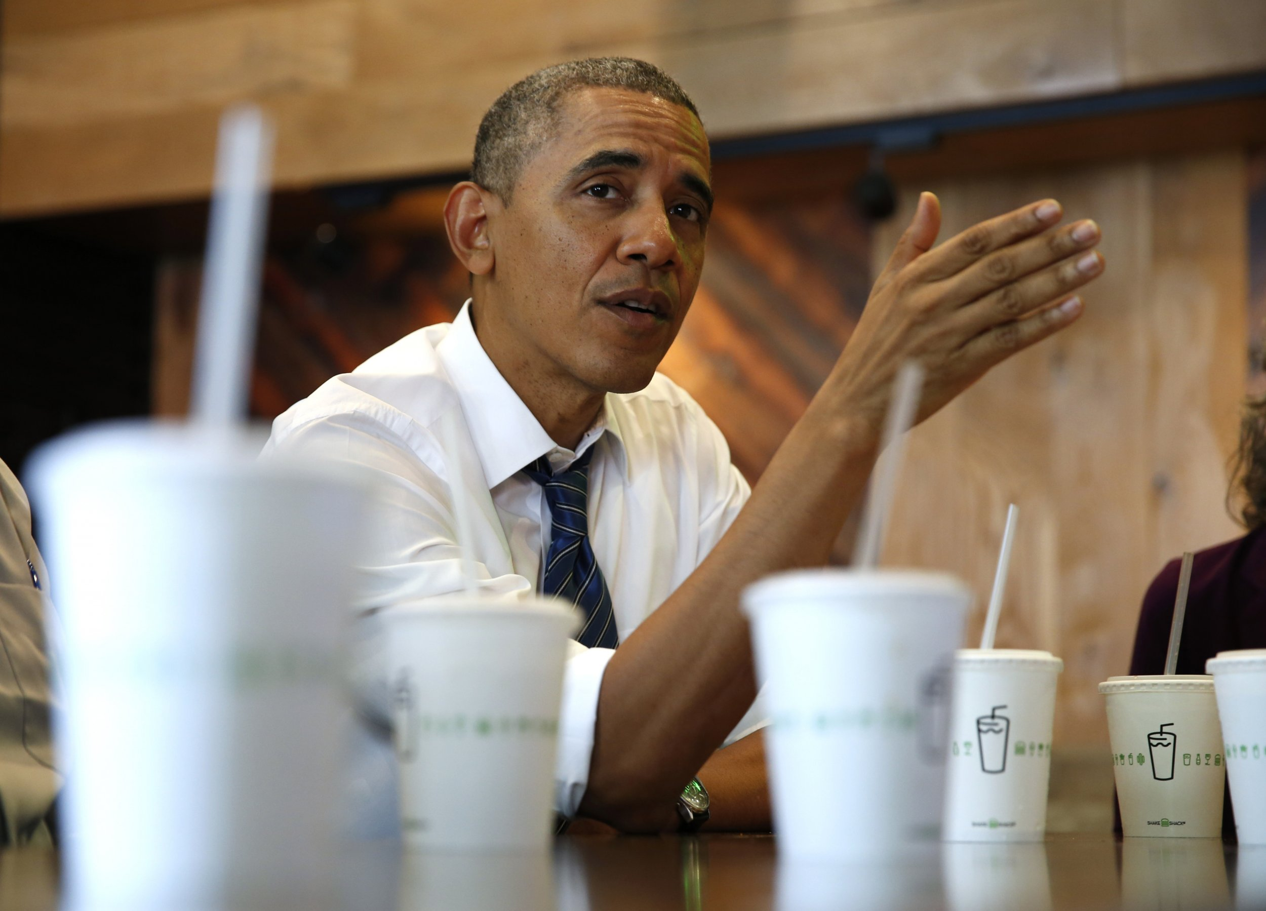 Obama At Shake Shack