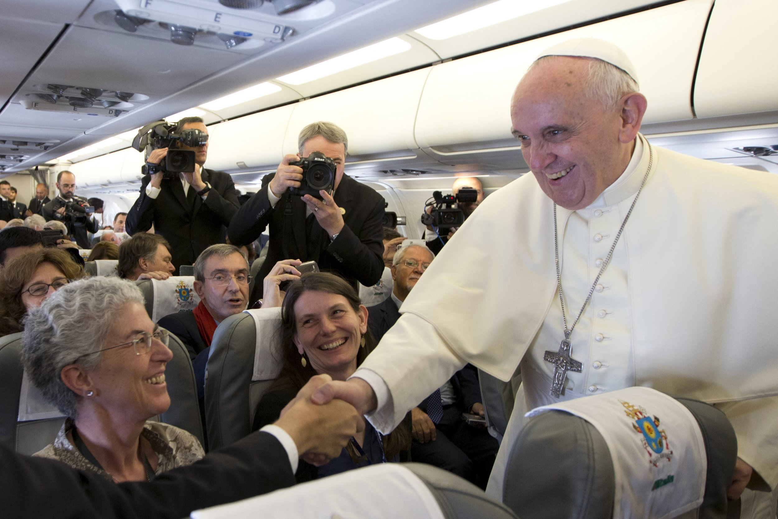 Pope Francis with Journalists