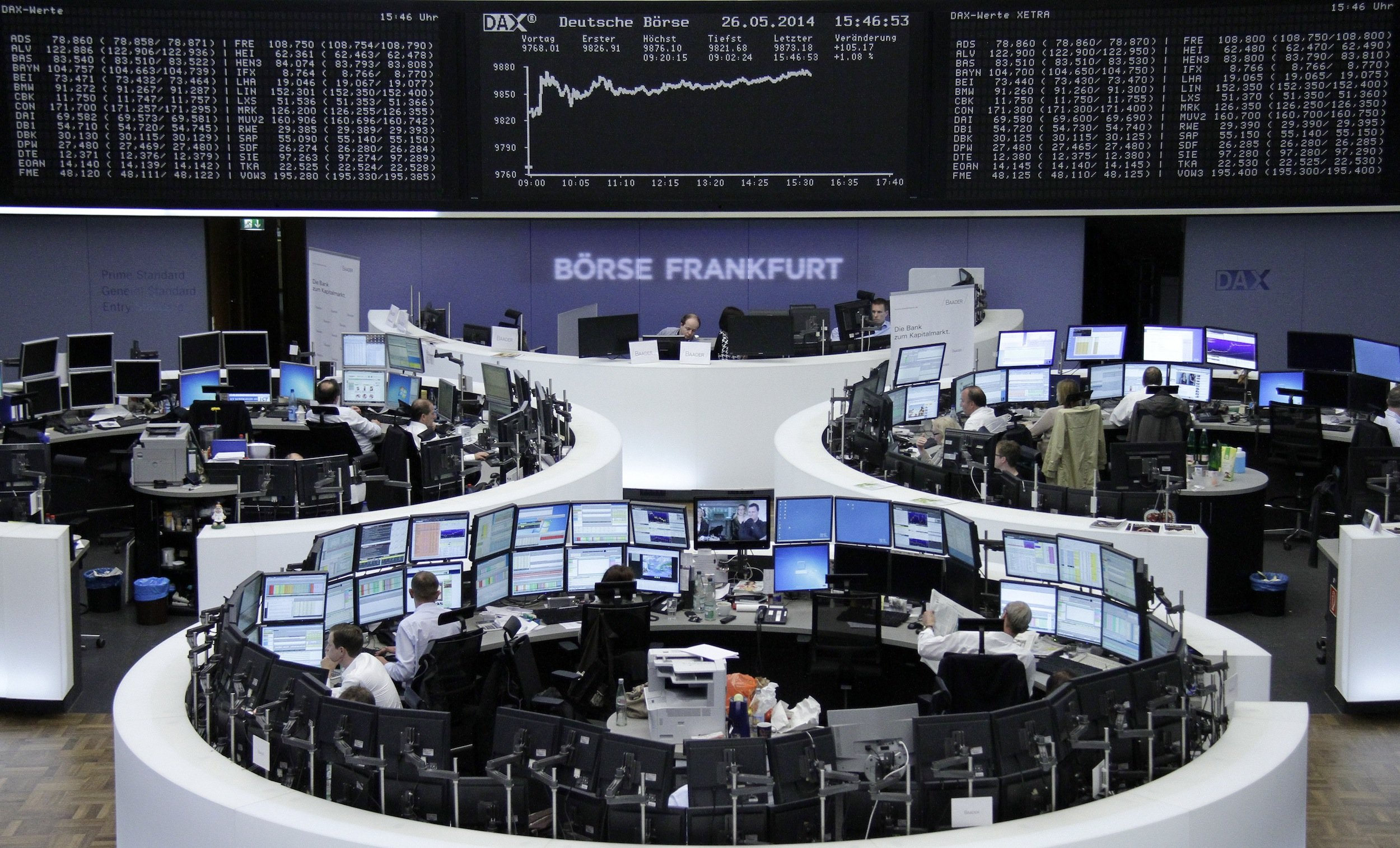 The Frankfurt stock exchange