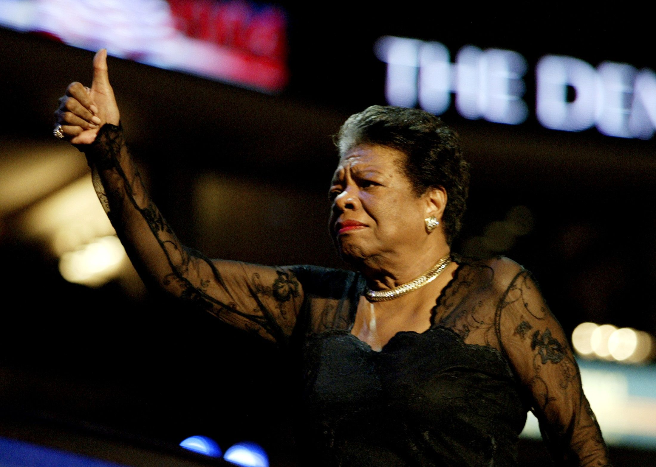 poet maya angelou  leadership politics  race