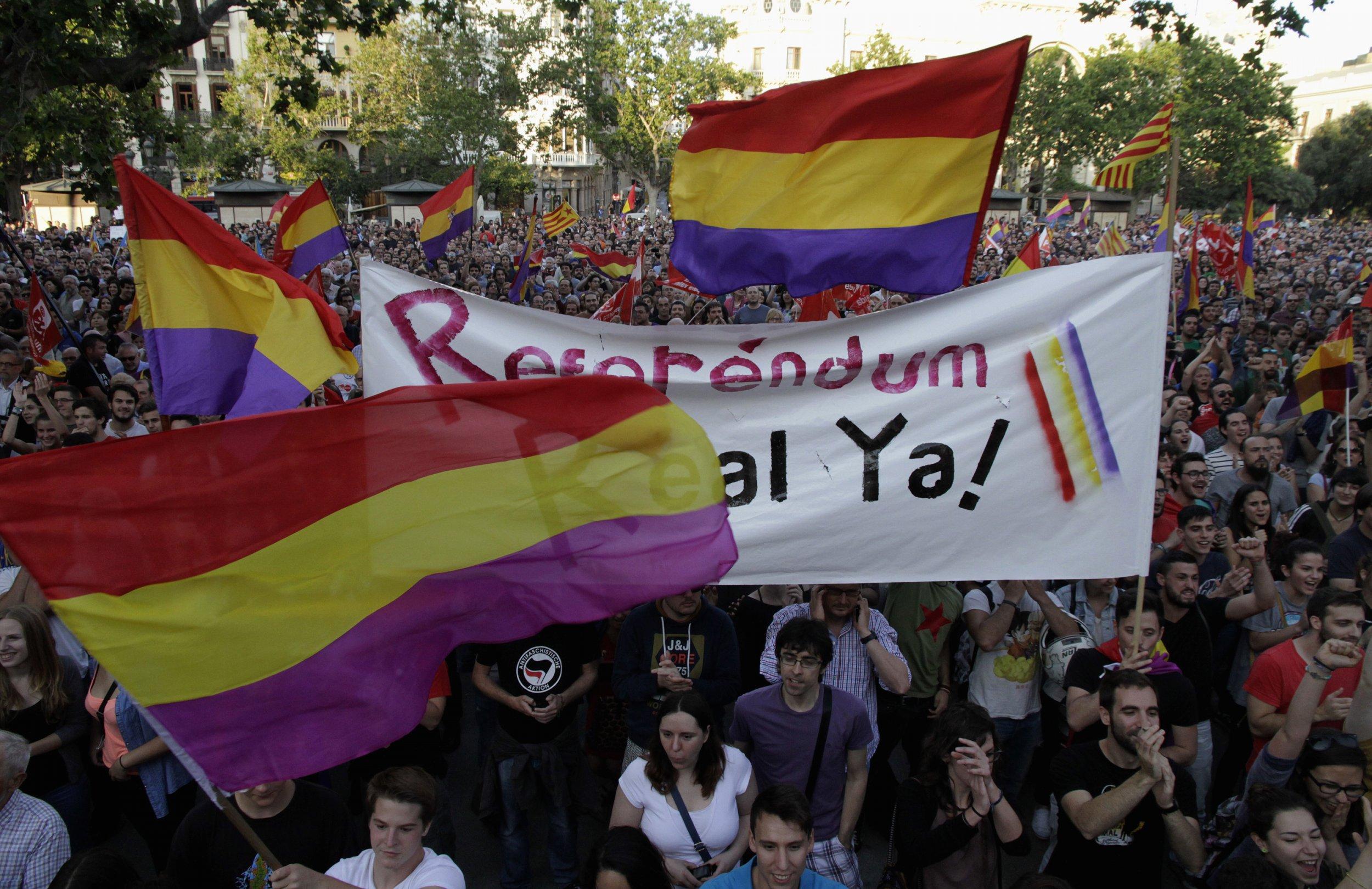 Valencia Anti-Royalist Protest