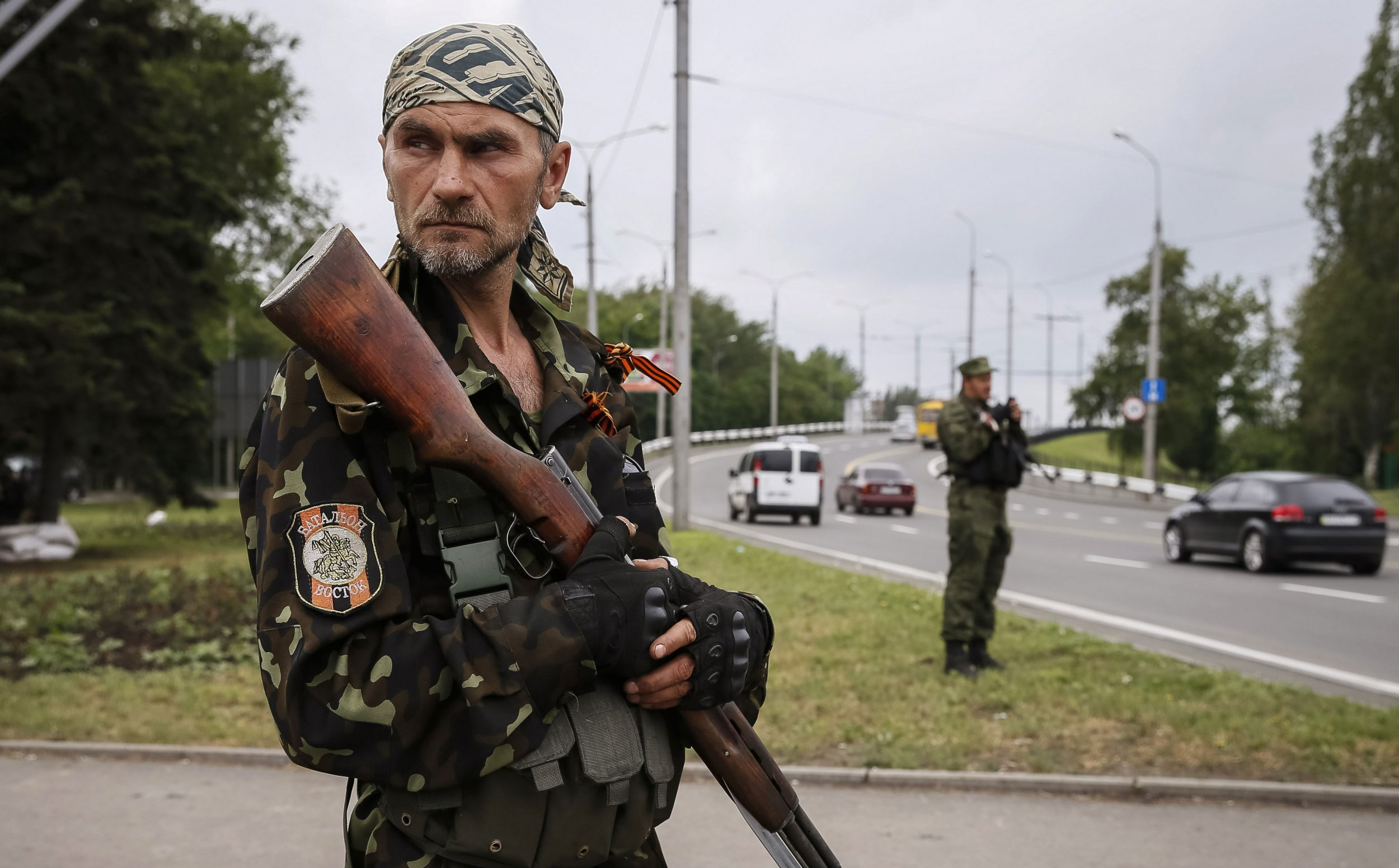 Pro-Russian rebel checkpoint