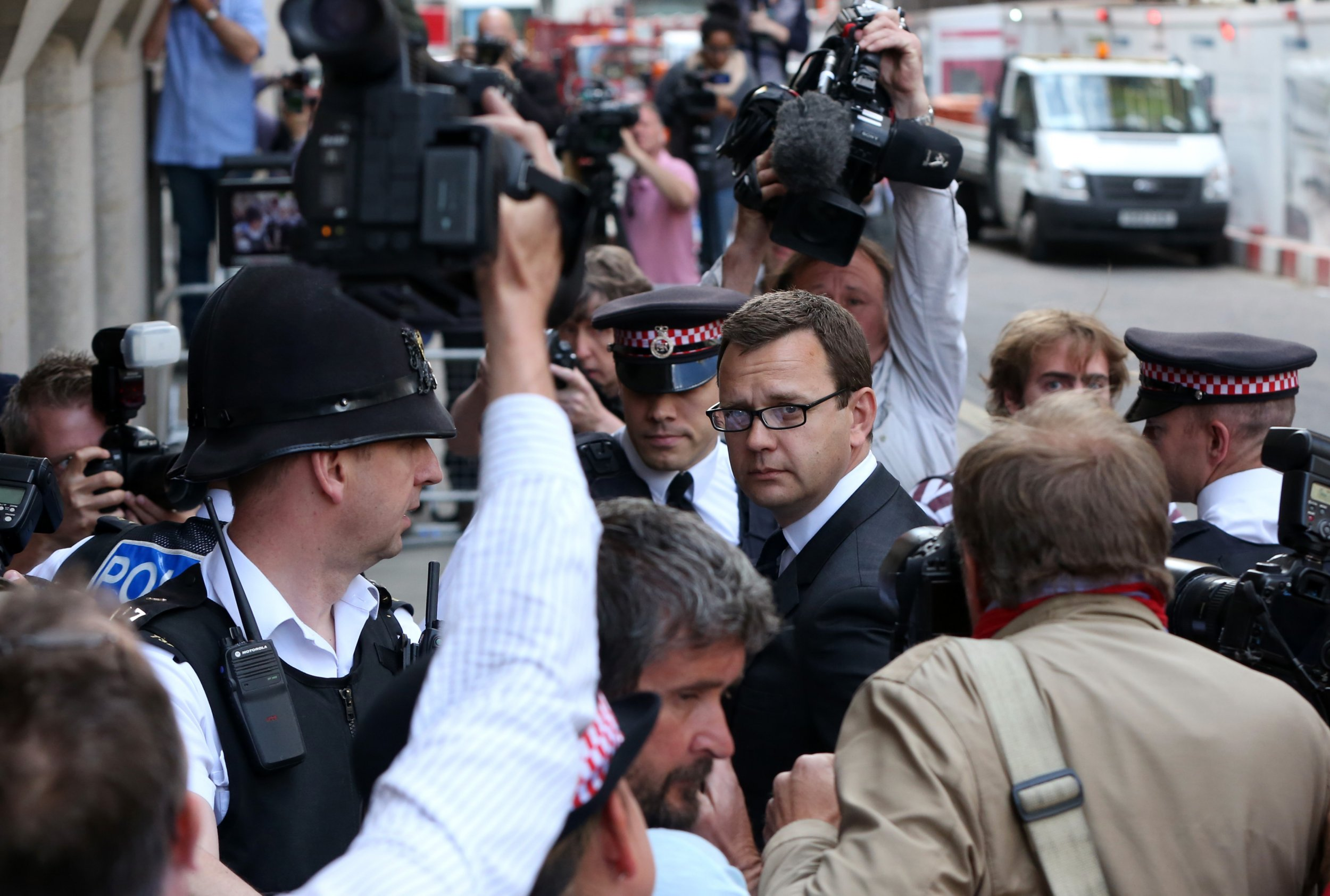 Andy Coulson arrives at the Old Bailey for sentencing