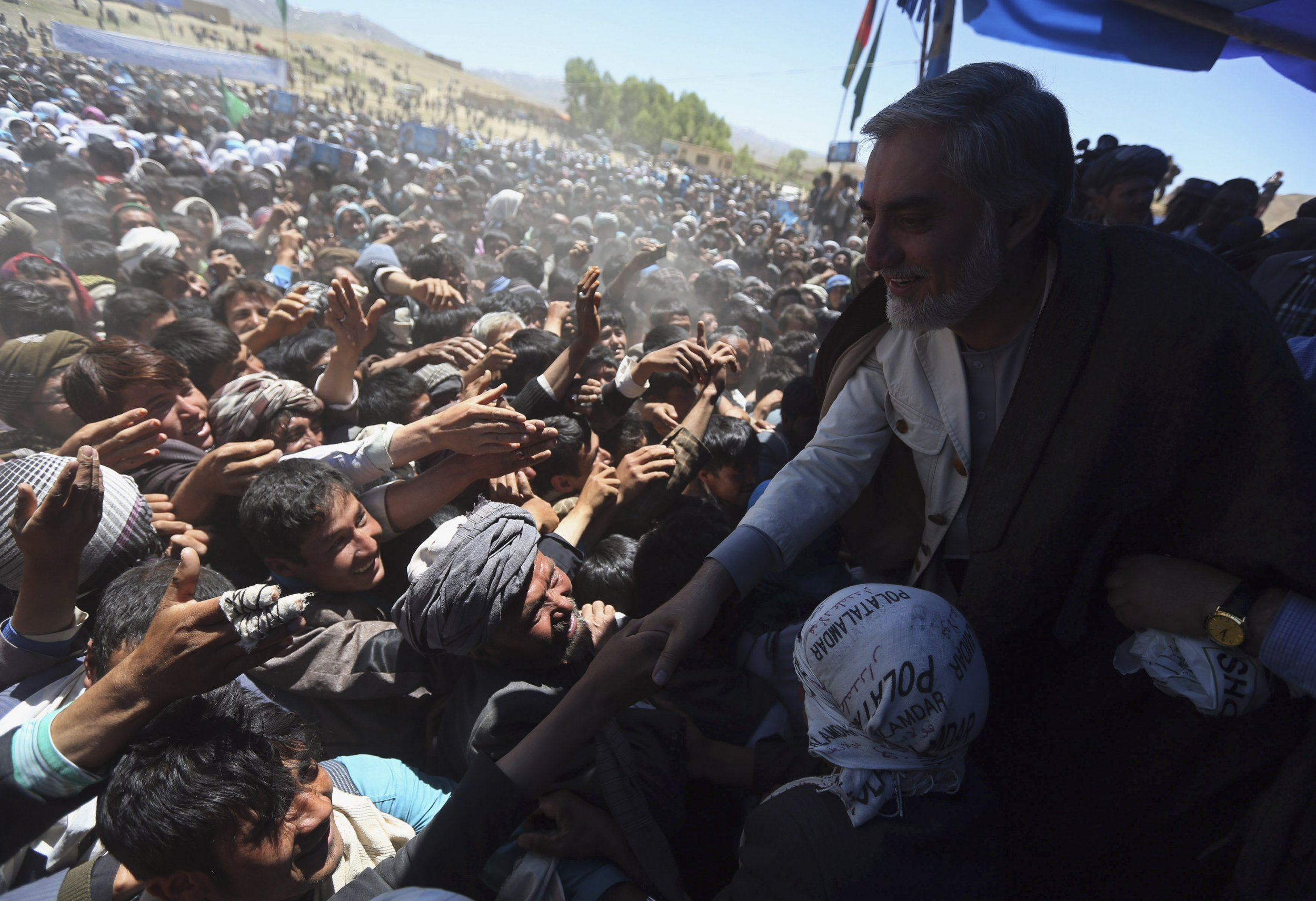 Abdullah Abdullah on the campaign trail