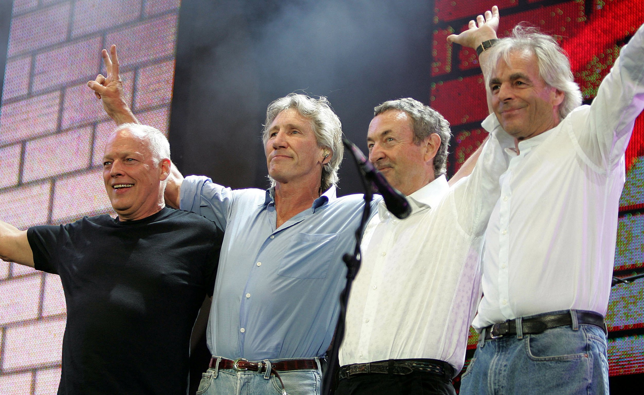 Pink Floyd's classic lineup, pictured in 2005.