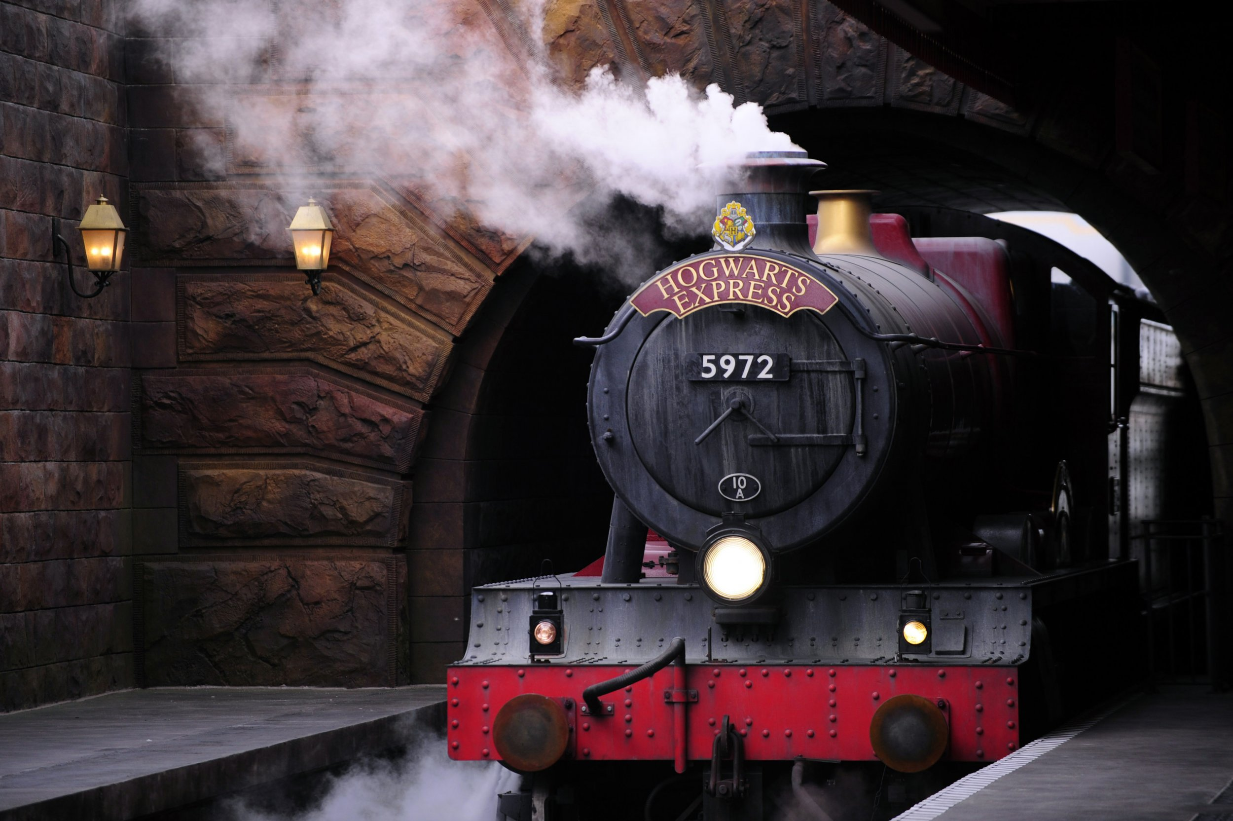 Aboard the Hogwarts Express.