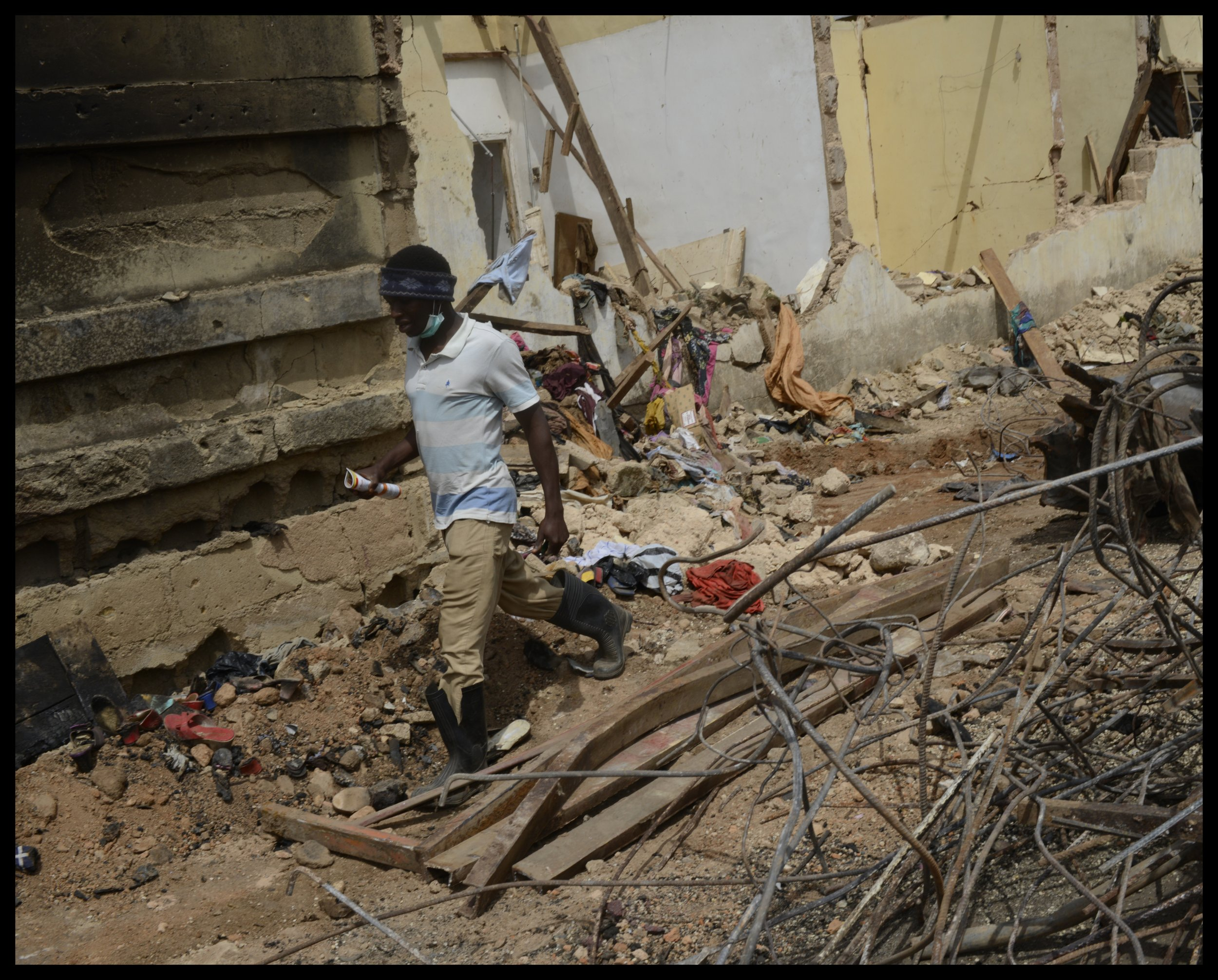 Boko Haram bombing site