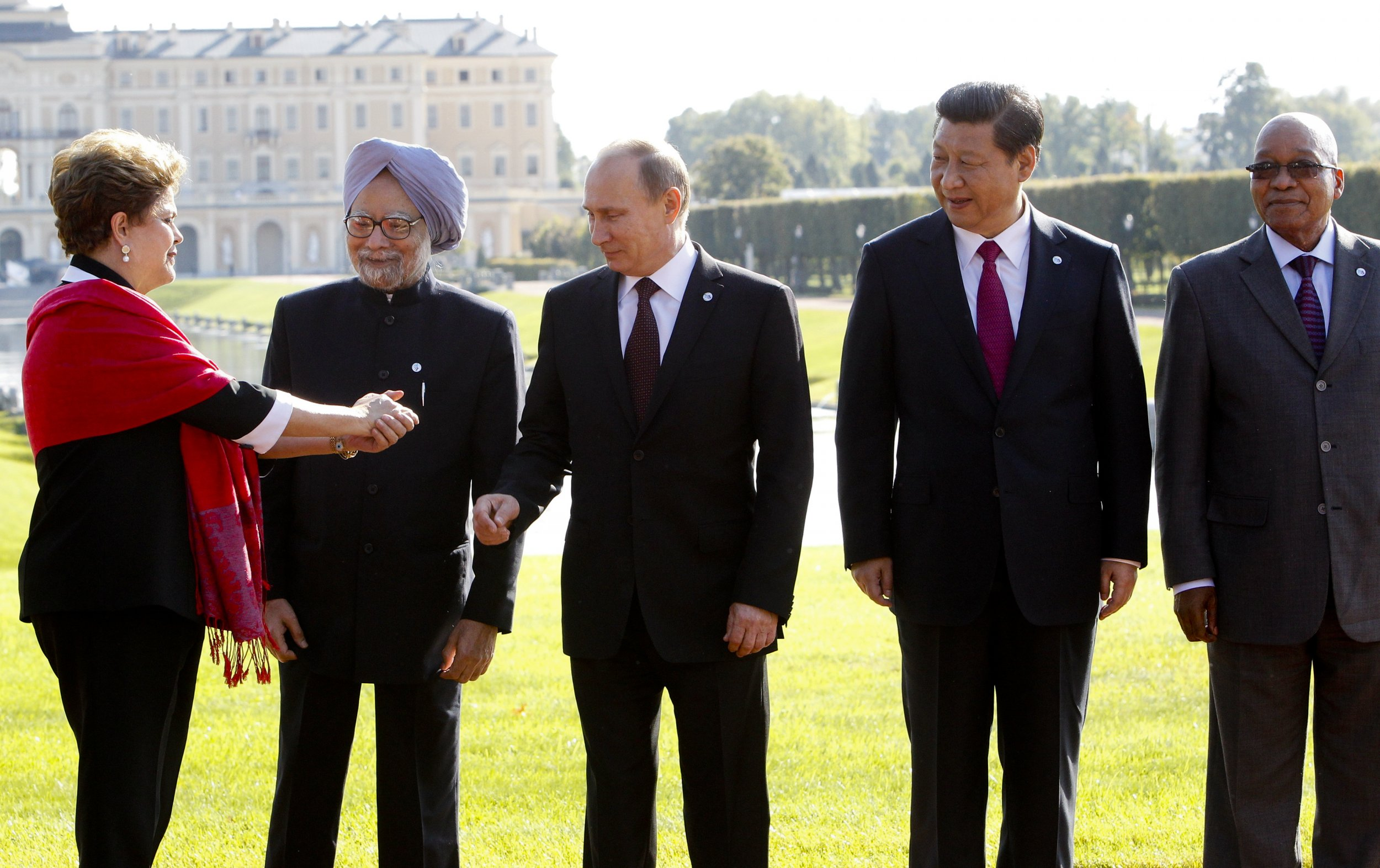 BRICS leaders near St. Petersburg
