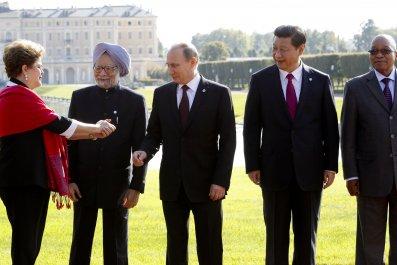 BRICS leaders near St. Petersburg