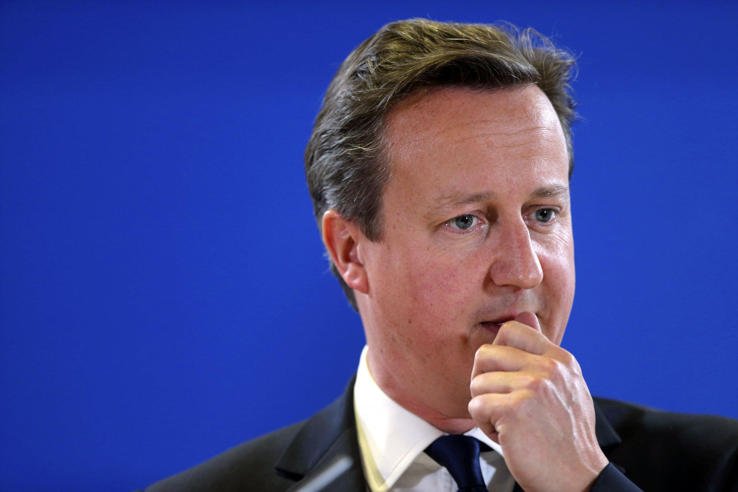 David Cameron at EU leaders summit