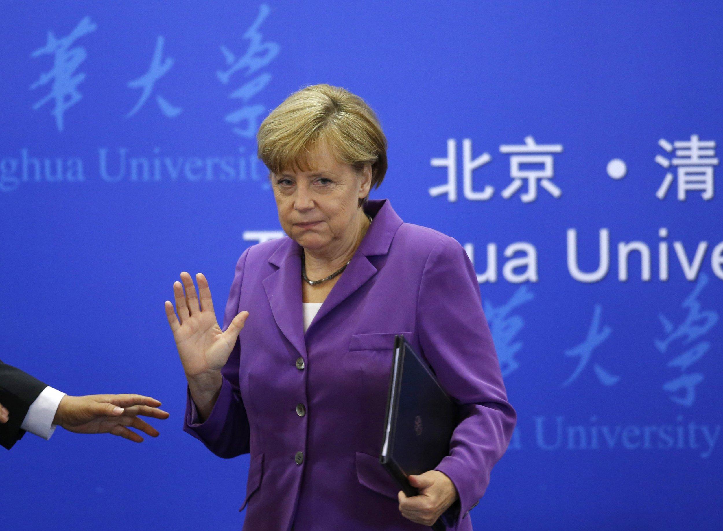 Angela Merkel in Beijing