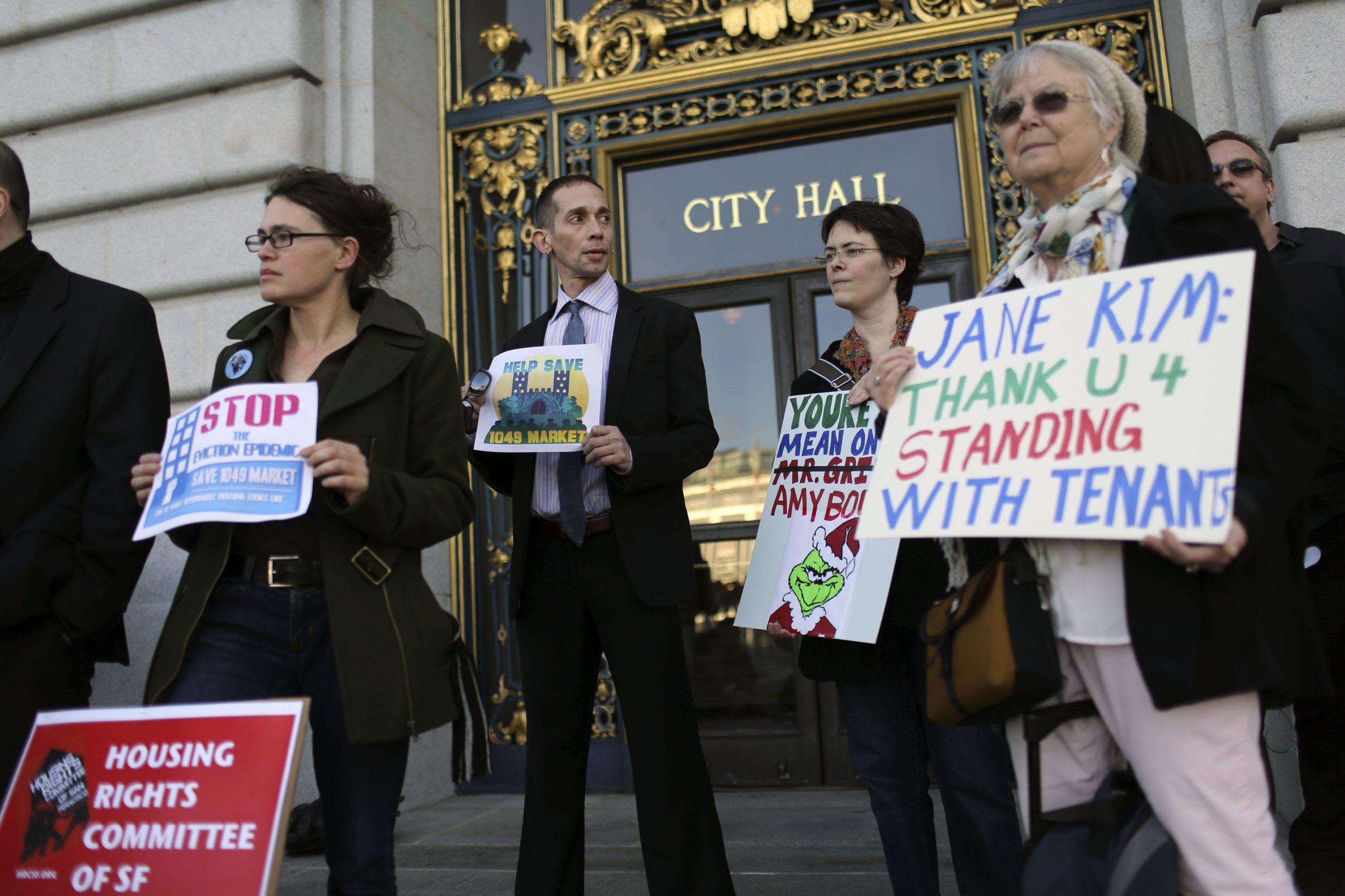 Protesters in SF